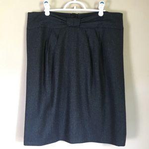Armani Collezioni Wool Skirt Gray Chevron Midi 14